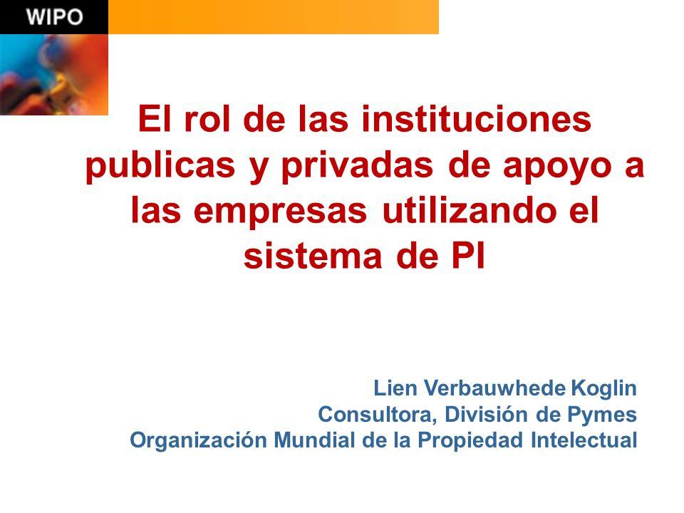 oficinas de propiedad intelectual ministerios cámaras de comercio asociaciones de PYME incubadoras parques científicos universidades otras instituciones de apoyo a las PYME.
