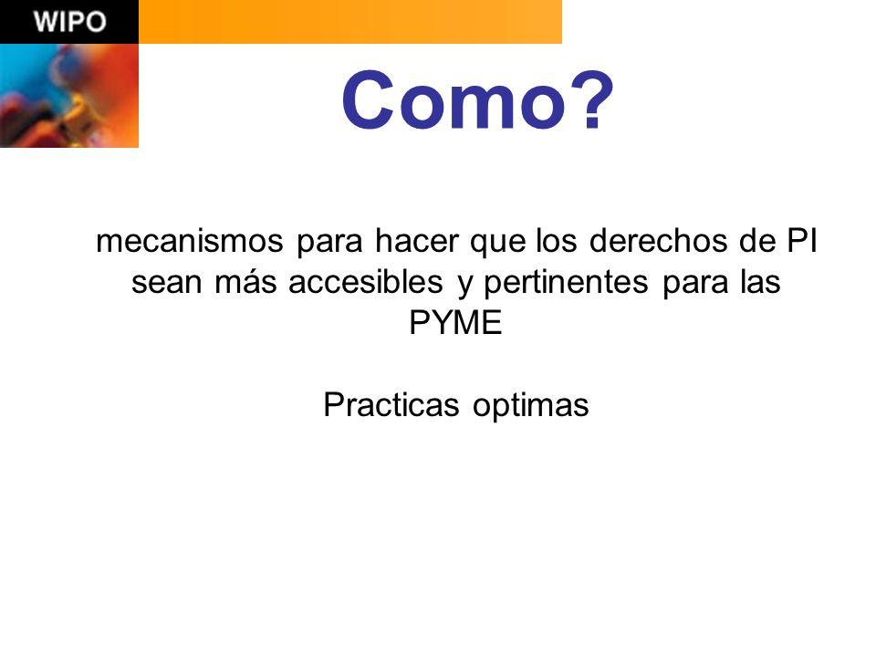 lien.verbauwhede@wipo.int gracias El rol de las instituciones publicas y privadas de apoyo a las empresas utilizando el sistema de PI