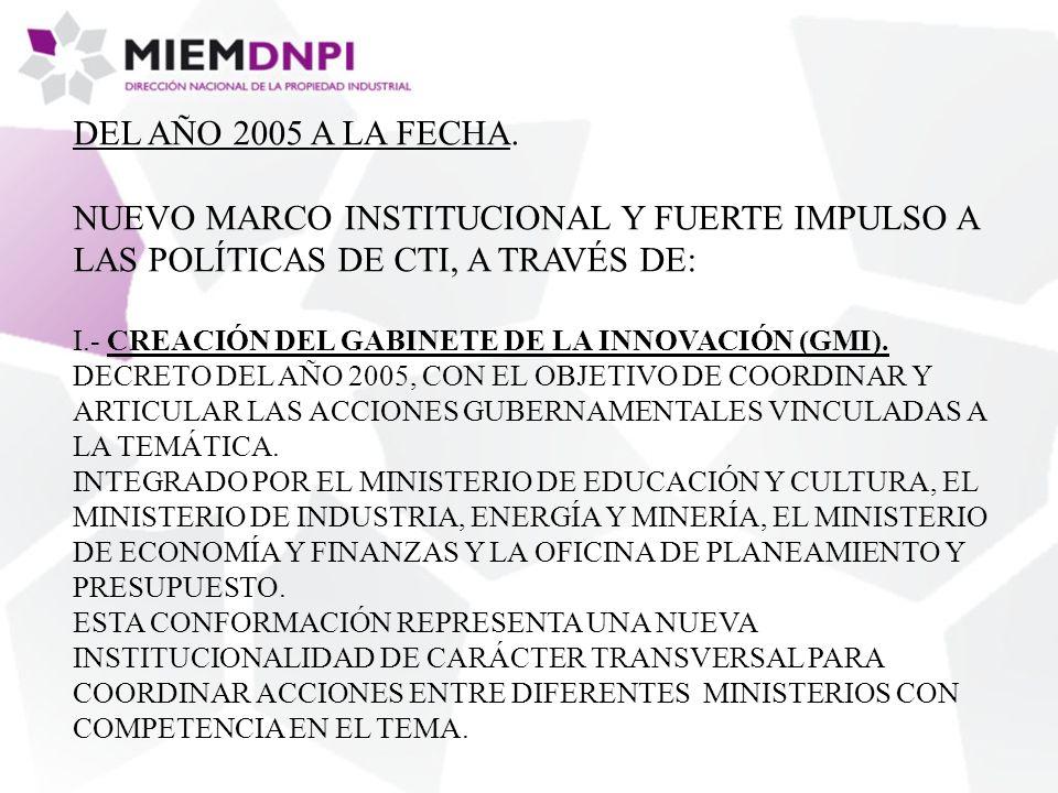 DEL AÑO 2005 A LA FECHA.