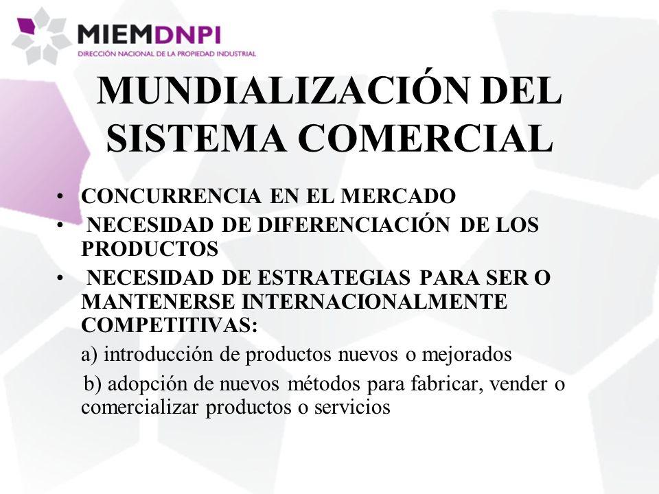 MUNDIALIZACIÓN DEL SISTEMA COMERCIAL CONCURRENCIA EN EL MERCADO NECESIDAD DE DIFERENCIACIÓN DE LOS PRODUCTOS NECESIDAD DE ESTRATEGIAS PARA SER O MANTE