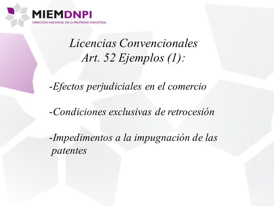 Licencias Convencionales Art.