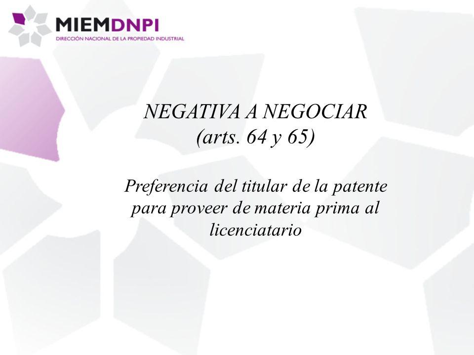 NEGATIVA A NEGOCIAR (arts.