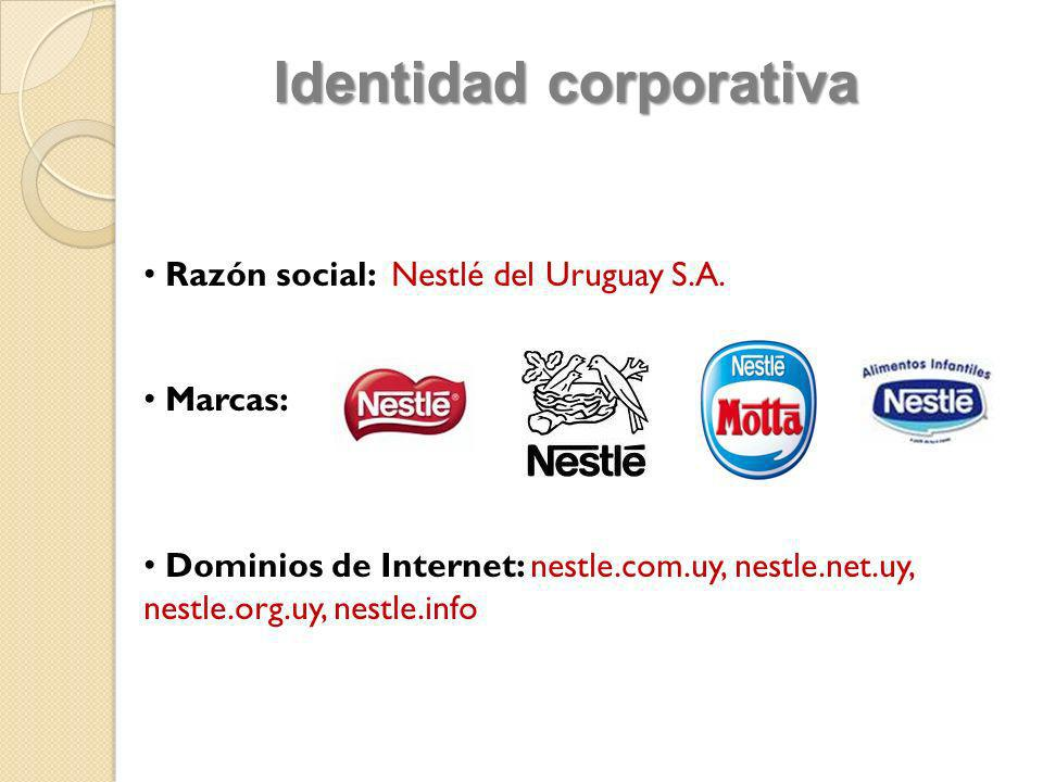 Razón social: Nestlé del Uruguay S.A. Marcas: Dominios de Internet: nestle.com.uy, nestle.net.uy, nestle.org.uy, nestle.info