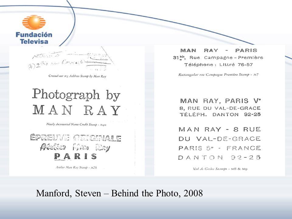 Manford, Steven – Behind the Photo, 2008