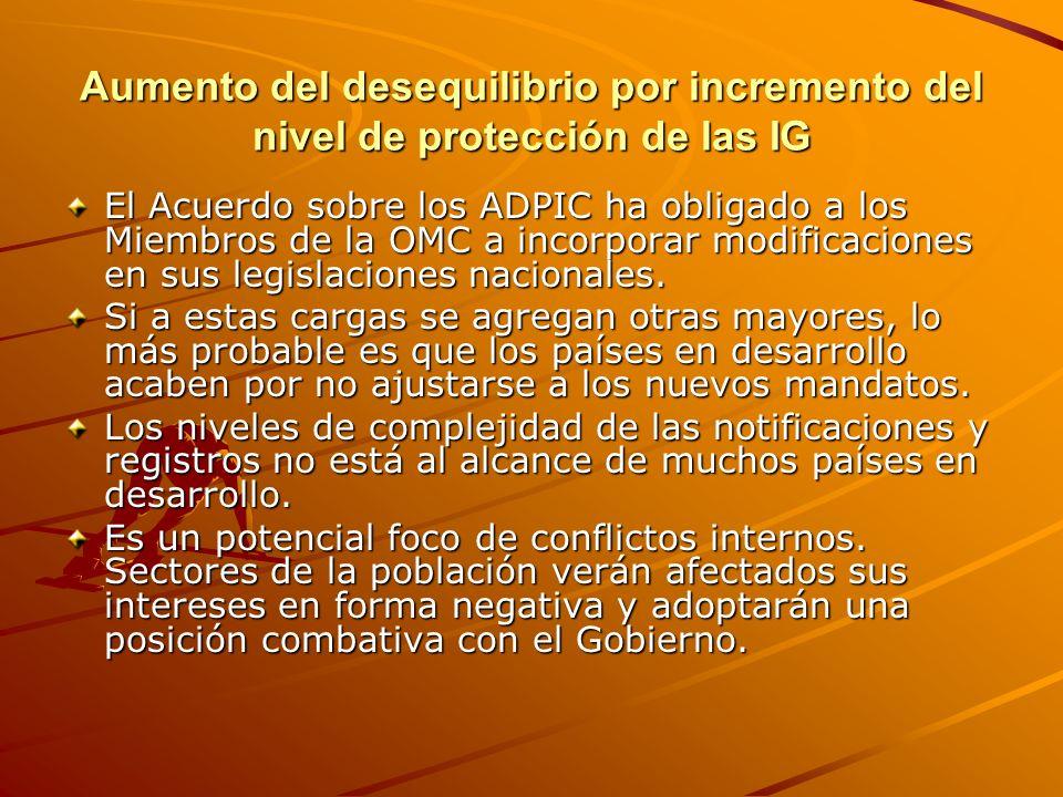 Preservación de la territorialidad de la protección de las Indicaciones Geográficas vs.