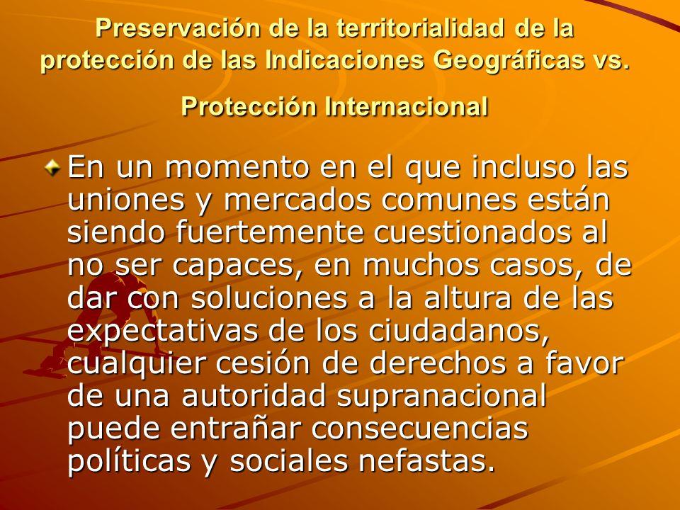 Nivel de protección de las Indicaciones Geográficas extremo vs.