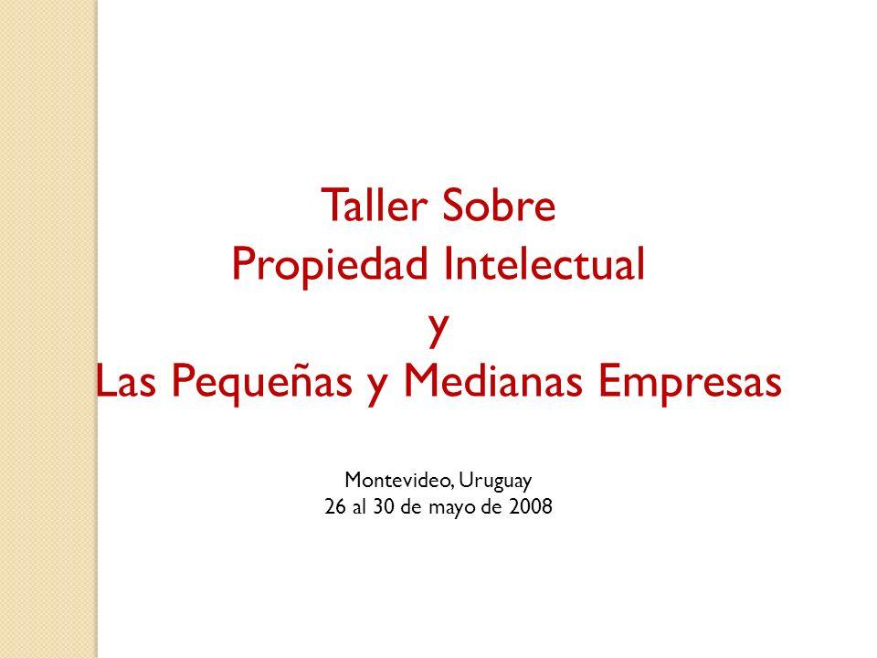 Taller Sobre Propiedad Intelectual y Las Pequeñas y Medianas Empresas Montevideo, Uruguay 26 al 30 de mayo de 2008
