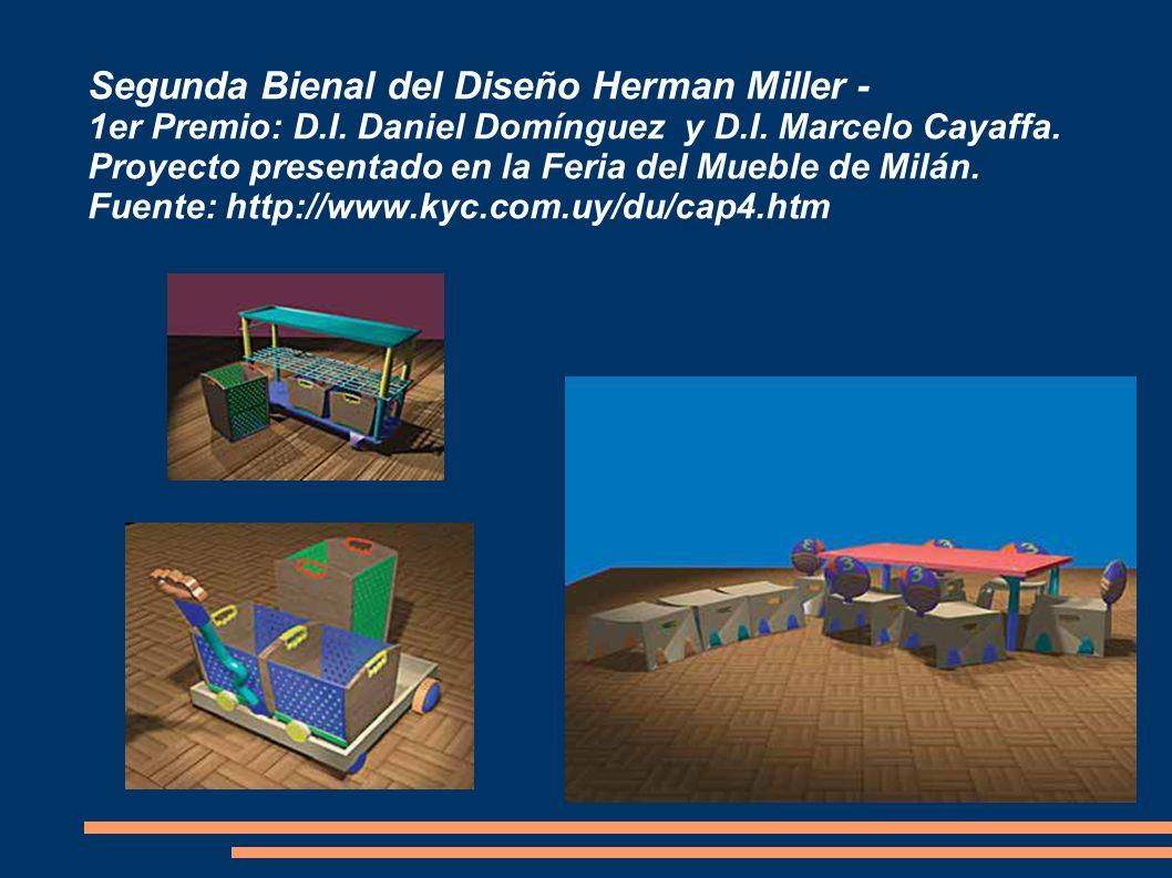 Segunda Bienal del Diseño Herman Miller - 1er Premio: D.I. Daniel Domínguez y D.I. Marcelo Cayaffa. Proyecto presentado en la Feria del Mueble de Milá