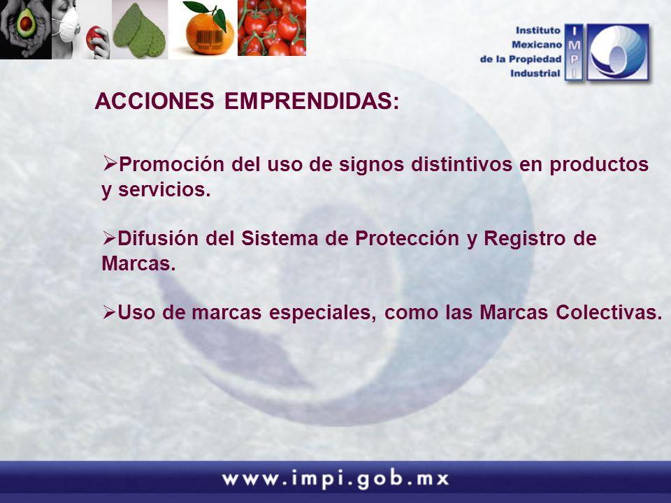 Promoción del uso de signos distintivos en productos y servicios. Difusión del Sistema de Protección y Registro de Marcas. Uso de marcas especiales, c
