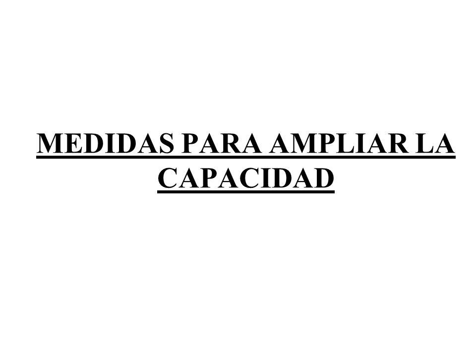 MEDIDAS PARA AMPLIAR LA CAPACIDAD