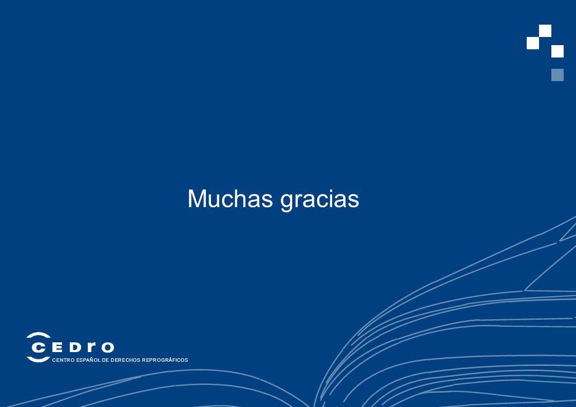 11 Muchas gracias CENTRO ESPAÑOL DE DERECHOS REPROGRÁFICOS