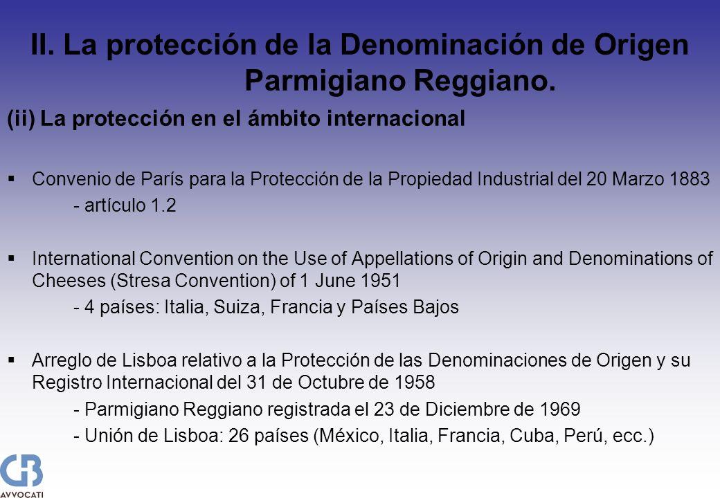 (ii) La protección en el ámbito internacional Convenio de París para la Protección de la Propiedad Industrial del 20 Marzo 1883 - artículo 1.2 Interna
