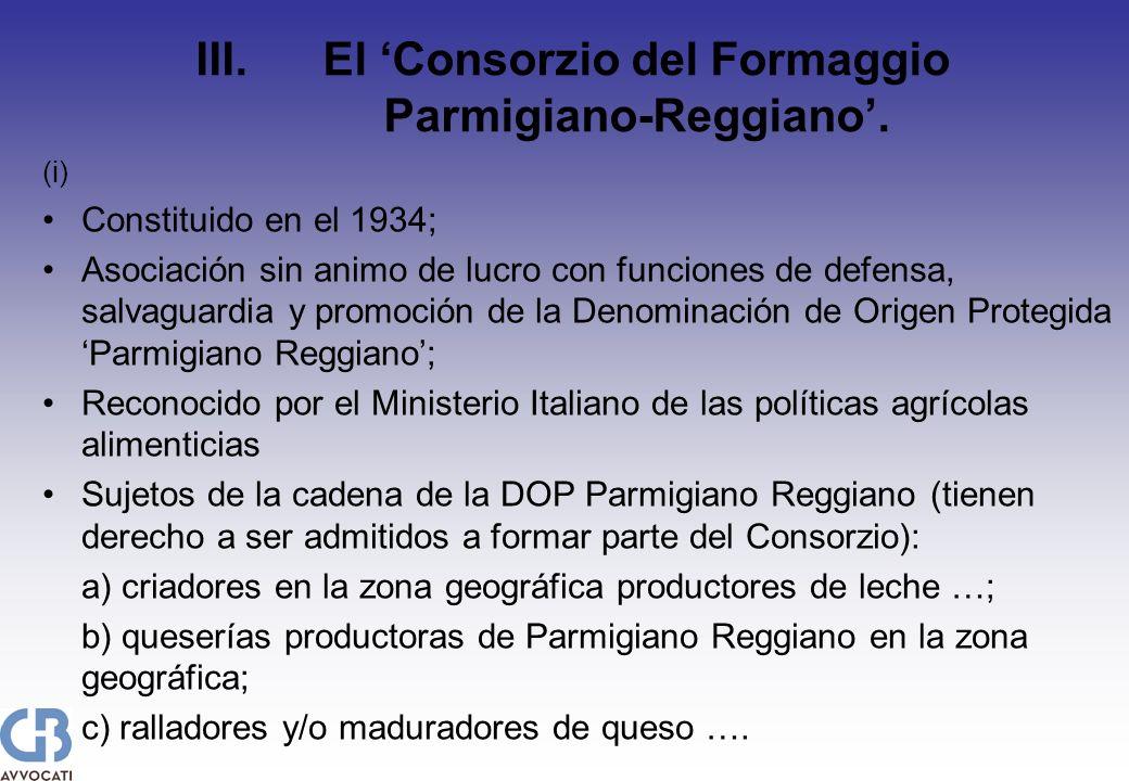 (i) Constituido en el 1934; Asociación sin animo de lucro con funciones de defensa, salvaguardia y promoción de la Denominación de Origen Protegida Pa
