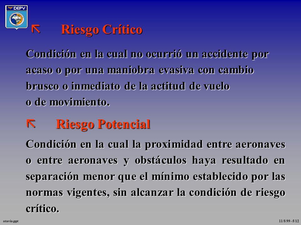 INCIDENTE DE TRÁFICO AÉREO Es toda ocurrencia involucrando Tráfico Aéreo que constituya riesgo para las aeronaves NIVEL DE COMPROMETIMIENTO DE SEGURID