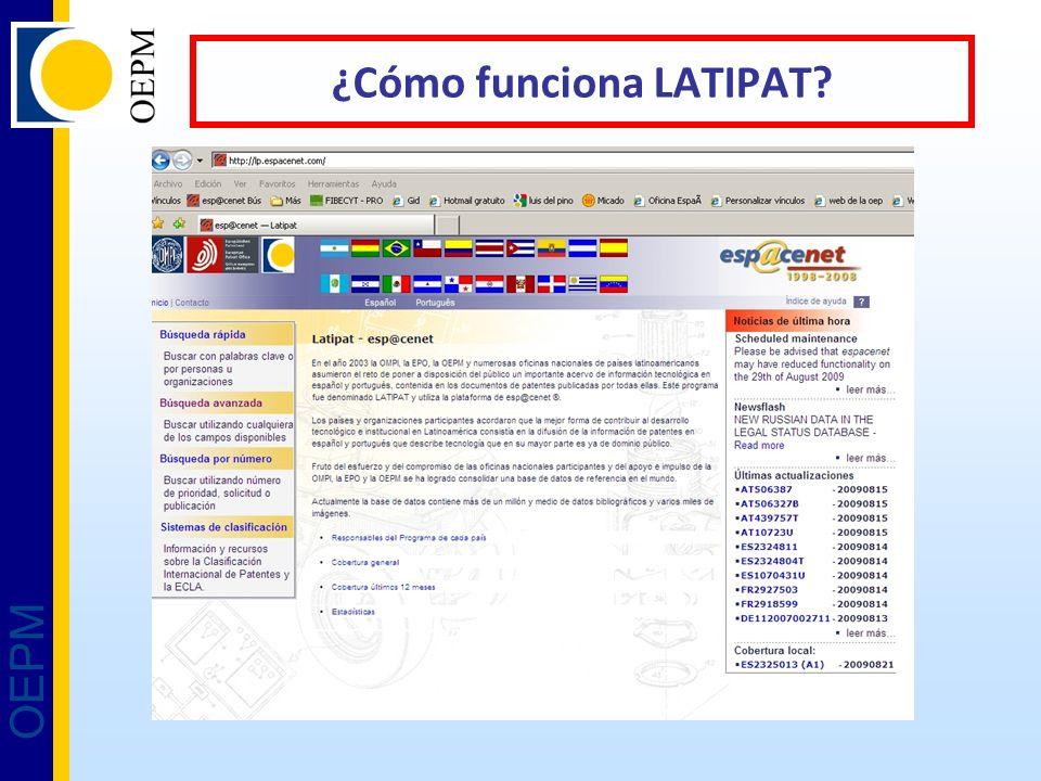 OEPM ¿Cómo funciona LATIPAT?
