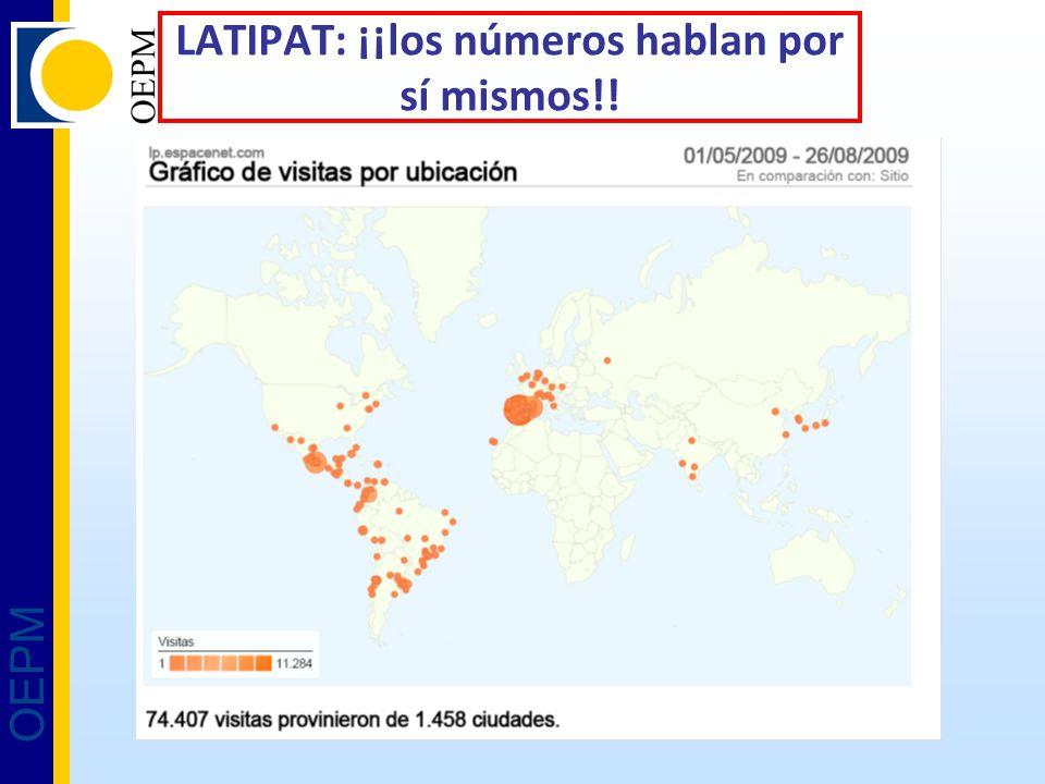 OEPM LATIPAT: ¡¡los números hablan por sí mismos!!