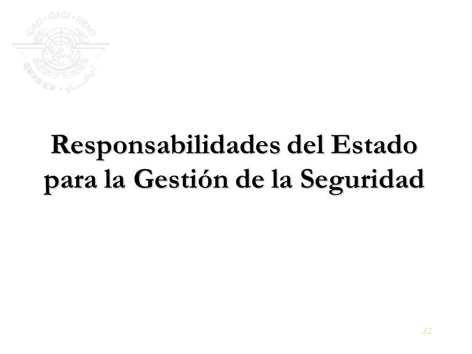 32 Responsabilidades del Estado para la Gestión de la Seguridad