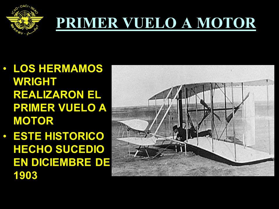 PRIMER VUELO A MOTOR LOS HERMAMOS WRIGHT REALIZARON EL PRIMER VUELO A MOTOR ESTE HISTORICO HECHO SUCEDIO EN DICIEMBRE DE 1903