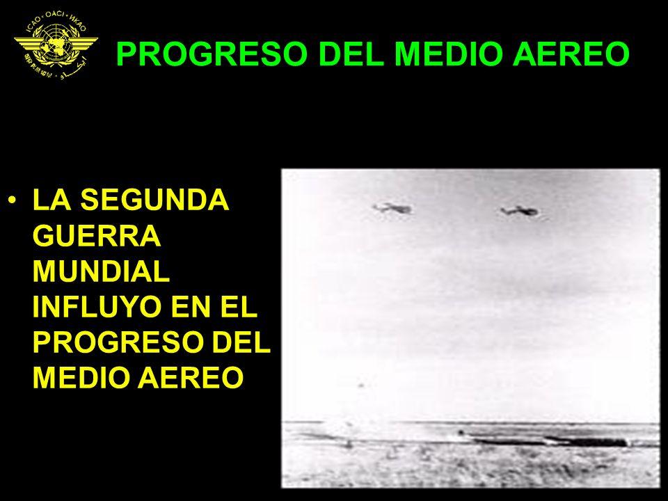 PROGRESO DEL MEDIO AEREO LA SEGUNDA GUERRA MUNDIAL INFLUYO EN EL PROGRESO DEL MEDIO AEREO