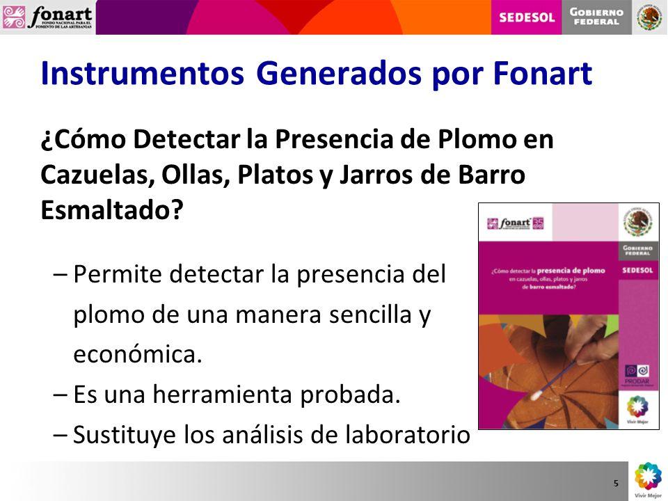 Instrumentos Generados por Fonart ¿Cómo Detectar la Presencia de Plomo en Cazuelas, Ollas, Platos y Jarros de Barro Esmaltado? –Permite detectar la pr