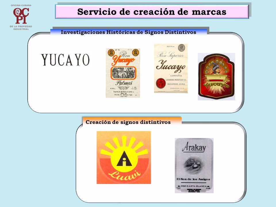 Servicio de creación de marcas Investigaciones Históricas de Signos Distintivos Creación de signos distintivos