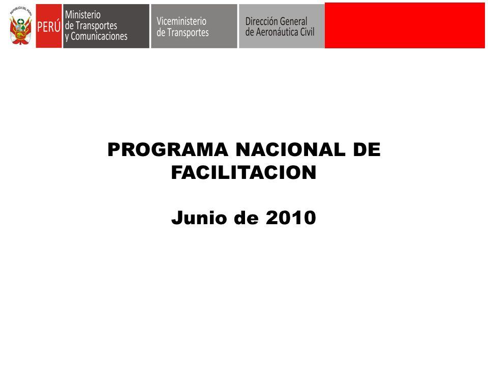 PROGRAMA NACIONAL DE FACILITACION Junio de 2010