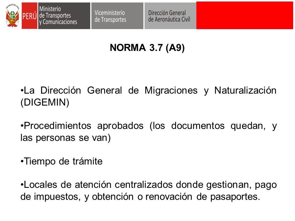 La Dirección General de Migraciones y Naturalización (DIGEMIN) Procedimientos aprobados (los documentos quedan, y las personas se van) Tiempo de trámi