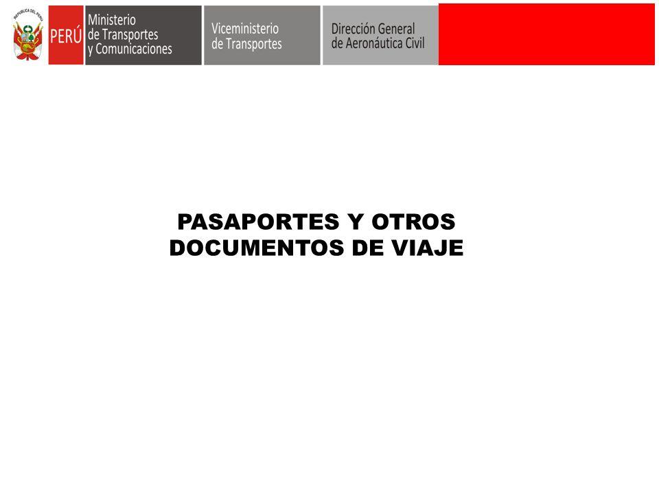 PASAPORTES Y OTROS DOCUMENTOS DE VIAJE
