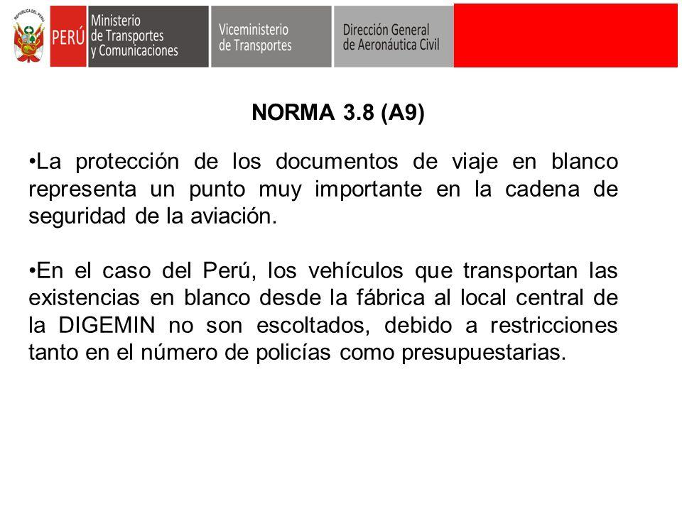 La protección de los documentos de viaje en blanco representa un punto muy importante en la cadena de seguridad de la aviación. En el caso del Perú, l