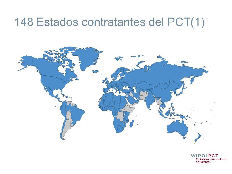 El Sistema Internacional de Patentes 148 Estados contratantes del PCT(1)