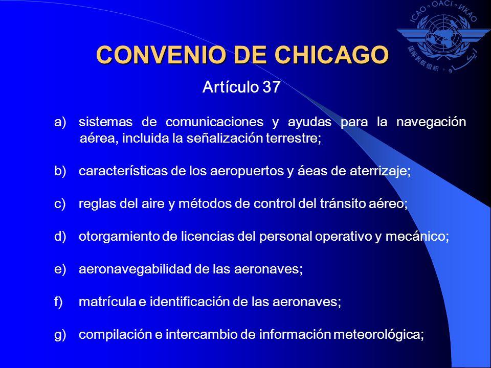 a)sistemas de comunicaciones y ayudas para la navegación aérea, incluida la señalización terrestre; b)características de los aeropuertos y áeas de ate