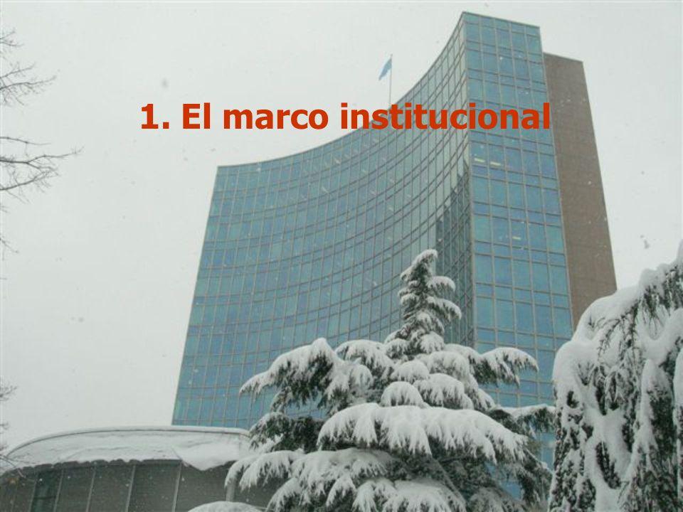 2 1. El marco institucional