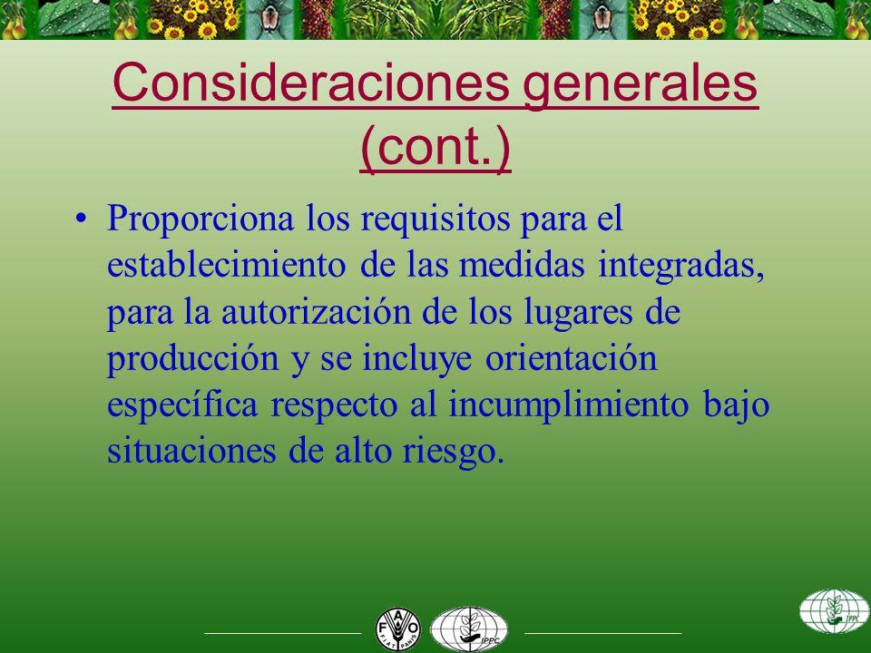 Asuntos relacionados con la elaboración de la NIMF cont… 2.