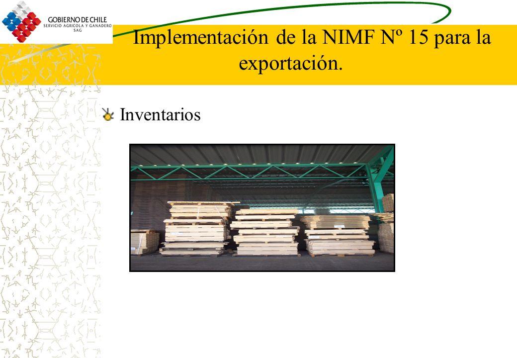 Implementación de la NIMF Nº 15 para la exportación. Inventarios