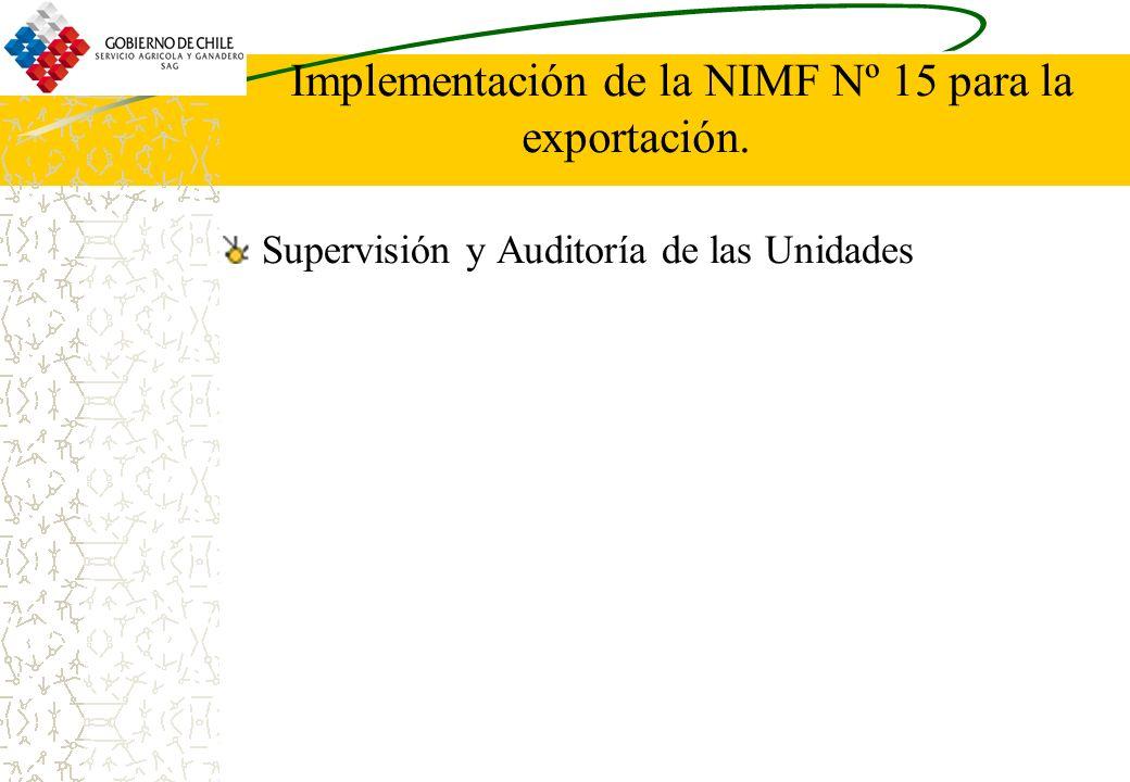 Implementación de la NIMF Nº 15 para la exportación. Supervisión y Auditoría de las Unidades