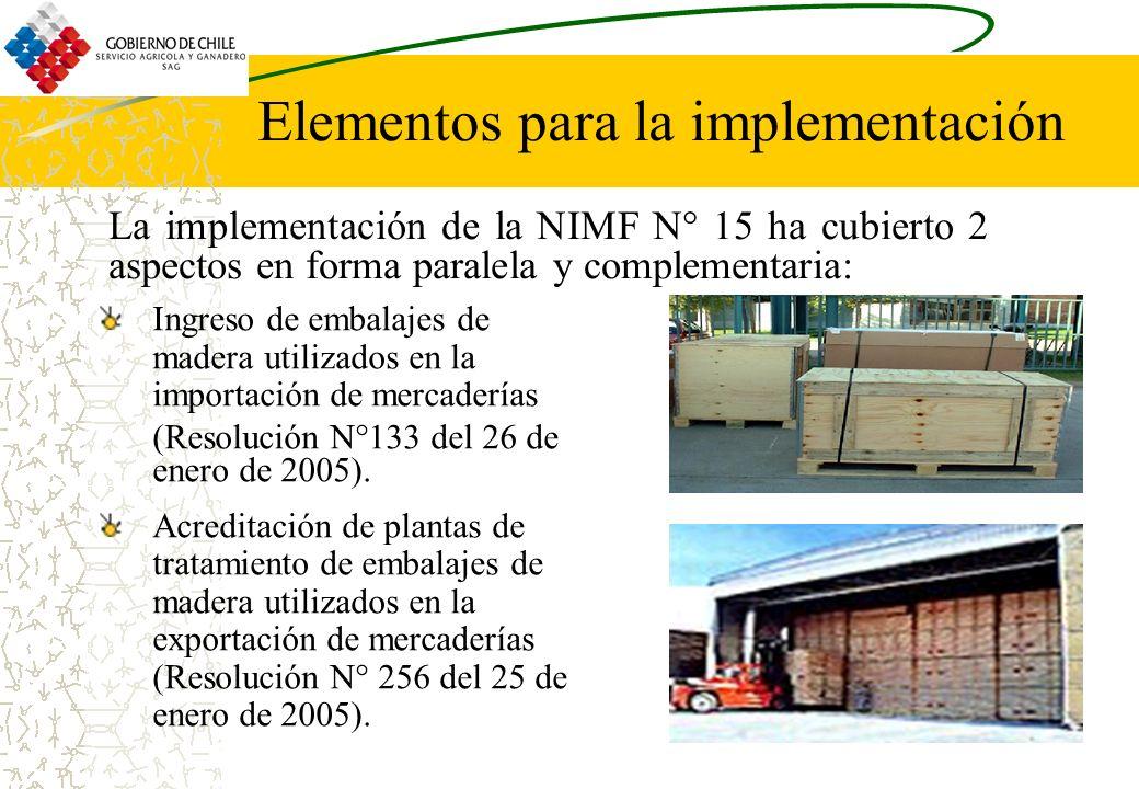 Elementos para la implementación Ingreso de embalajes de madera utilizados en la importación de mercaderías (Resolución N°133 del 26 de enero de 2005)