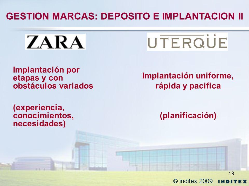 18 Implantación por etapas y con obstáculos variados (experiencia, conocimientos, necesidades) Implantación uniforme, rápida y pacifica (planificación