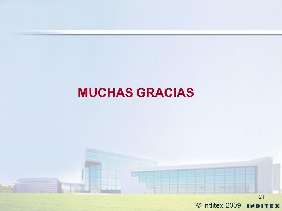 21 MUCHAS GRACIAS © inditex 2009