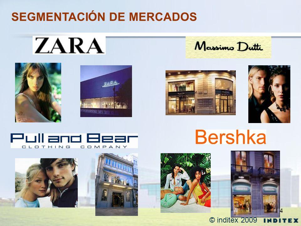 4 SEGMENTACIÓN DE MERCADOS © inditex 2009