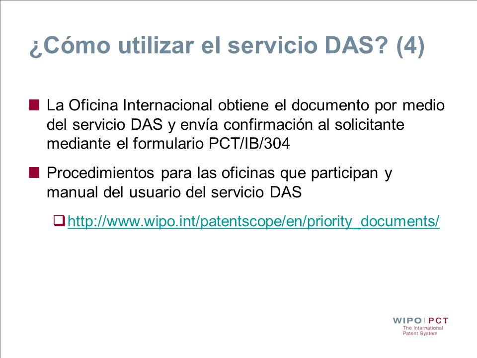 ¿Cómo utilizar el servicio DAS? (4) La Oficina Internacional obtiene el documento por medio del servicio DAS y envía confirmación al solicitante media