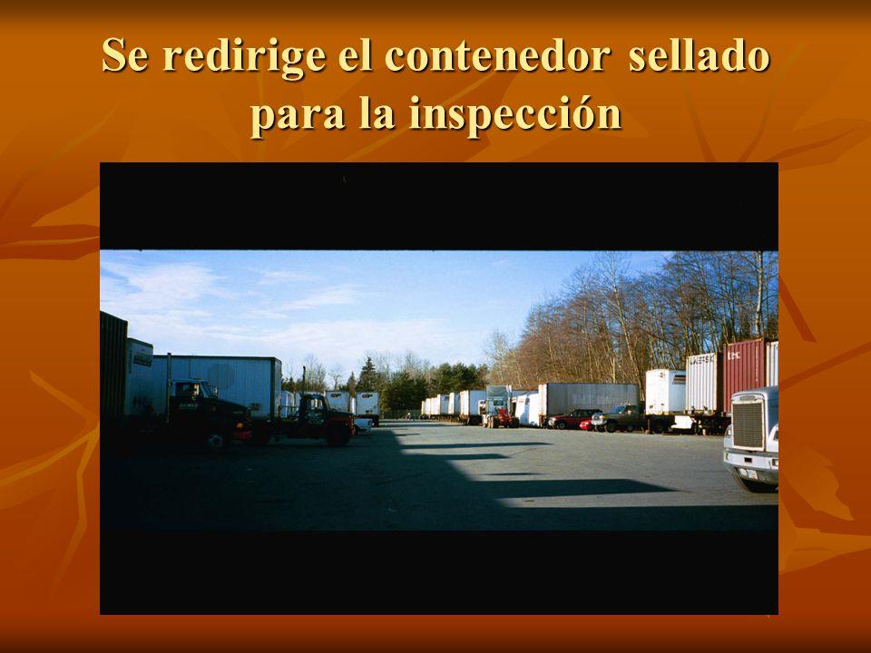 Se redirige el contenedor sellado para la inspección
