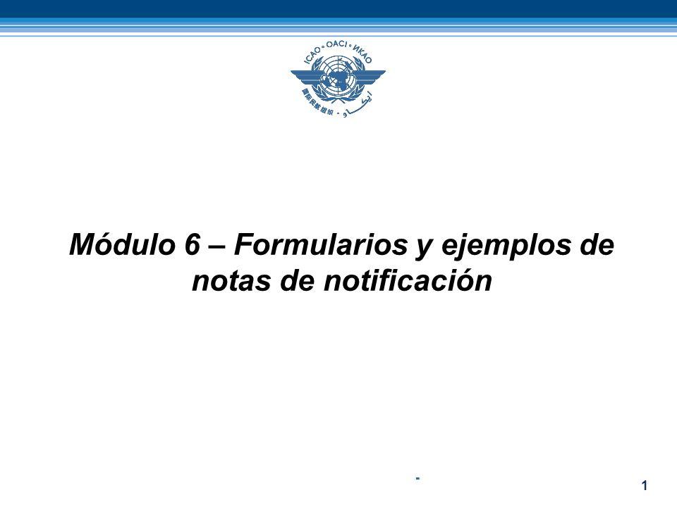 1 Módulo 6 – Formularios y ejemplos de notas de notificación -