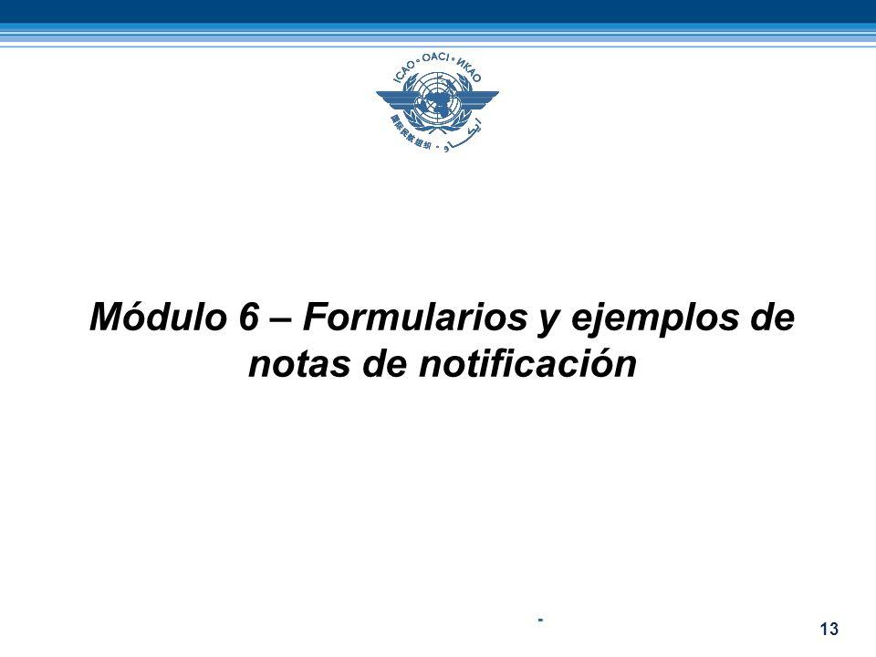 13 Módulo 6 – Formularios y ejemplos de notas de notificación -