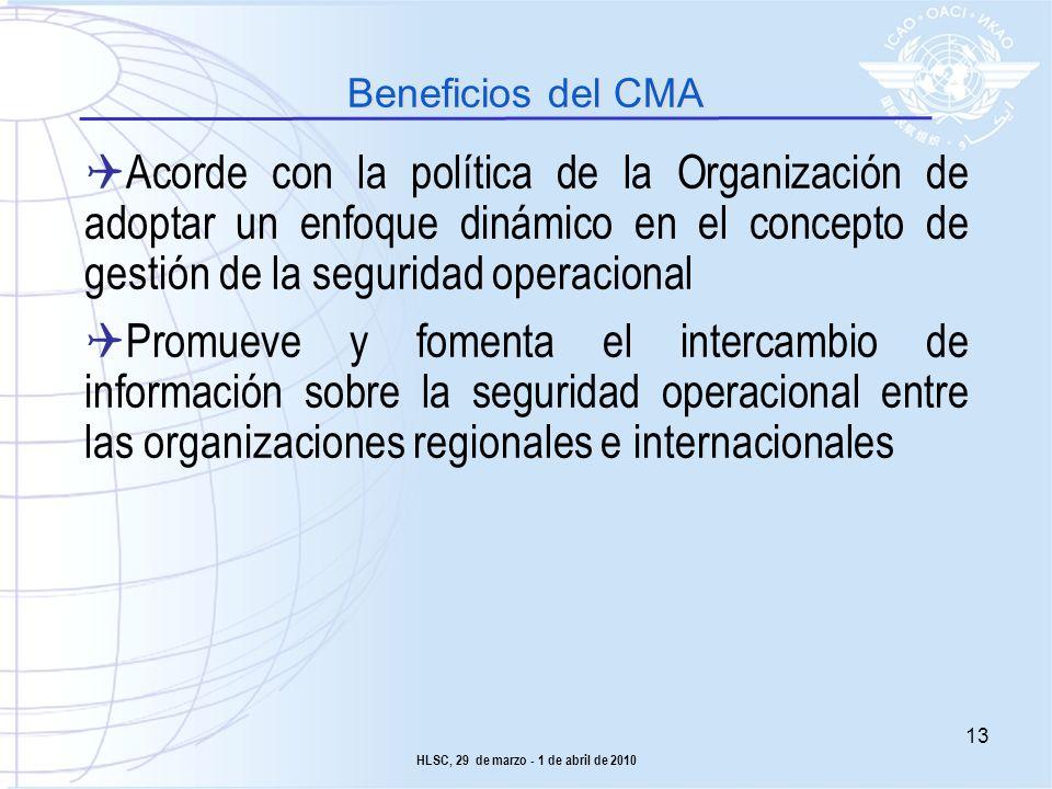 Acorde con la política de la Organización de adoptar un enfoque dinámico en el concepto de gestión de la seguridad operacional Promueve y fomenta el i