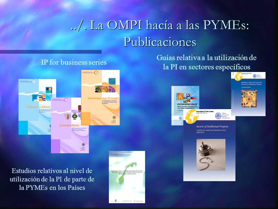 Guías relativa a la utilización de la PI en sectores específicos IP for business series Estudios relativos al nivel de utilización de la PI de parte de la PYMEs en los Países../.