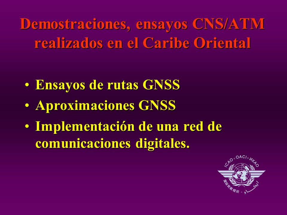 Ensayos de rutas GNSSEnsayos de rutas GNSS Aproximaciones GNSSAproximaciones GNSS Implementación de una red de comunicaciones digitales.Implementación