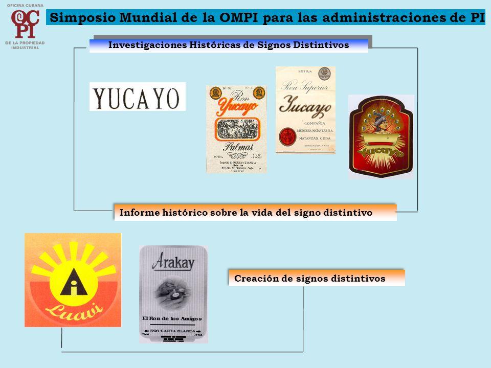 Investigaciones Históricas de Signos Distintivos Informe histórico sobre la vida del signo distintivo Simposio Mundial de la OMPI para las administrac
