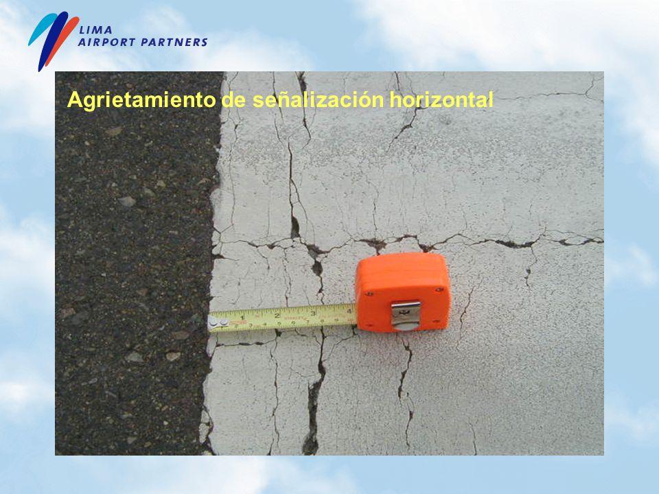 Agrietamiento de señalización horizontal