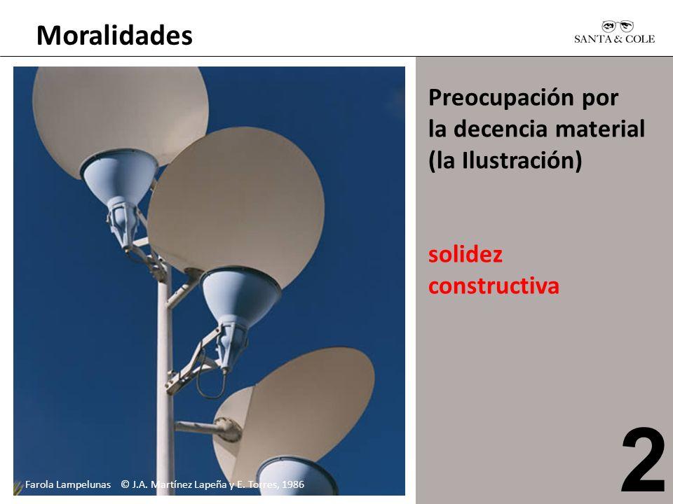 Moralidades Preocupación por la decencia material (la Ilustración) solidez constructiva Farola Lampelunas © J.A. Martínez Lapeña y E. Torres, 1986 2
