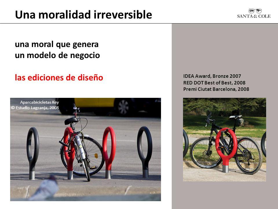 IDEA Award, Bronze 2007 RED DOT Best of Best, 2008 Premi Ciutat Barcelona, 2008 una moral que genera un modelo de negocio las ediciones de diseño Apar